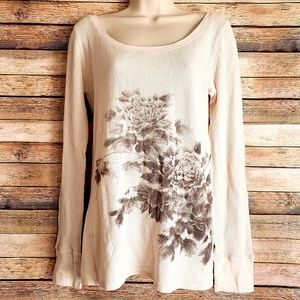 Lucky Brand Floral Thermal Top XL